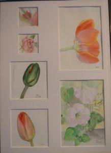 Collage I, 36x26, akvarell