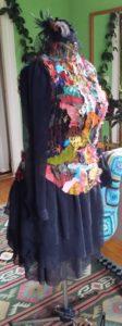 Festklänning Trash design 100% siden